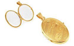 Zlatý medailón na fotku s gravírom IZ9491