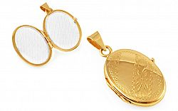 Zlatý medailón na fotku s gravírom IZ9527