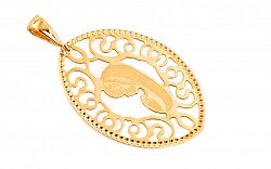 Zlatý medailón Panna Mária IZ7281