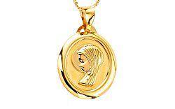 Zlatý medailón Panna Mária IZ7628