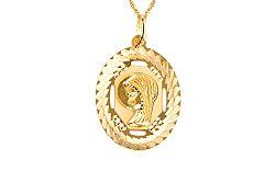 Zlatý medailón Panny Márie IZ4595