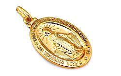Zlatý medailón s Pannou Máriou IZ7639
