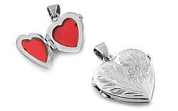 Zlatý medailón srdce na fotku IZ8375