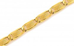Zlatý náramok Carved valentino 5 mm IZ7461