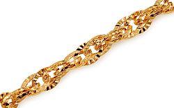 Zlatý náramok Continuous patterns 5 mm IZ10834