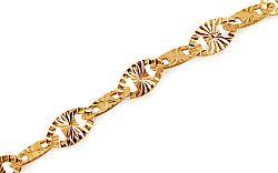 Zlatý náramok Continuous patterns 5 mm IZ10899
