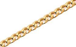 Zlatý náramok Curb 4 mm IZ7725