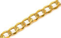 Zlatý náramok Curb IZ395