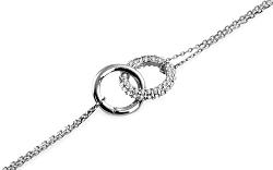 Zlatý náramok Double white rings IZ6483A