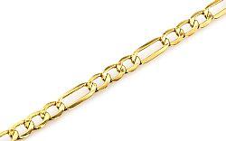 Zlatý náramok Figaro 5 mm IZ4458