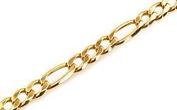 Zlatý náramok FIGARO plný 5 mm IZ392