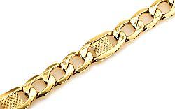 Zlatý náramok FIGARO s PLATNIČKAMI IZ5250