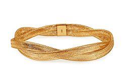 Zlatý náramok Flexi prepletaný IZ10892