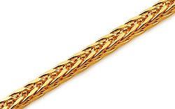 Zlatý náramok Fox - líščí chvost 3 mm IZ10271N