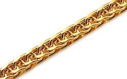 Zlatý náramok Fox - líščí chvost 5 mm IZ10270N