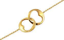 Zlatý náramok I love you IZ9510NR