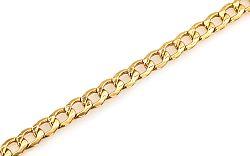 Zlatý náramok pre mužov FLAT CURB IZ5139