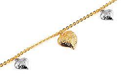 Zlatý náramok s gravírom Hearts IZ7768