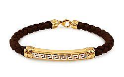Zlatý náramok s kaučukom Artemis IZ10545