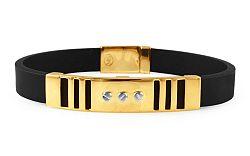 Zlatý náramok s kaučukom IZ9535