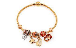 Zlatý náramok s príveskami, tip na darček IZ11461