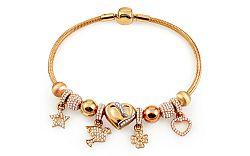 Zlatý náramok s príveskami, tip na darček IZ11463