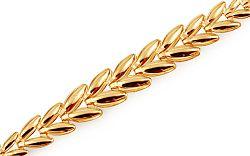 Zlatý náramok Shiny Leaves IZ11437