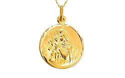 Zlatý obojstranný medailón 2 IZ7632