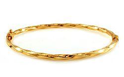 Zlatý obručový náramok Eliana IZ9123