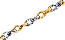 Zlatý pánsky náramok Cable chain 1 IZ6779