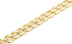 Zlatý pánsky náramok CURB IZ5301