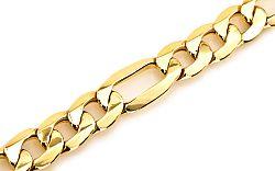 Zlatý pánsky náramok FIGARO IZ5321