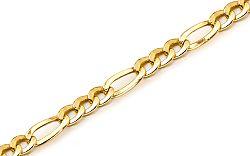 Zlatý pánsky náramok Figaro KOBR180