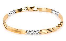 Zlatý pánsky náramok KEVIN 10 IZ5435