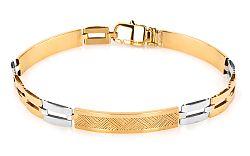 Zlatý pánsky náramok KEVIN 7 IZ5446