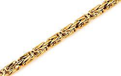 Zlatý pánsky náramok King Pattern 2 IZ6336