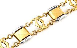 Zlatý pánsky náramok kombinovaný IZ307