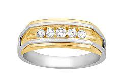 Zlatý pánsky prsteň s diamantmi KU466