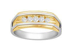 Zlatý pánsky prsteň s diamantmi Maxime KU573