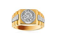 Zlatý pánsky prsteň so zirkónmi IZ1591