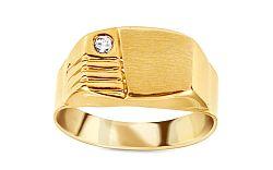Zlatý pánsky prsteň so zirkónom IZ11510