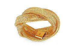Zlatý prepletaný prsteň Flexi IZ9984