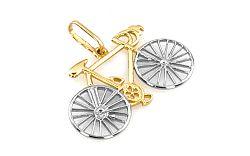 Zlatý prívesok Bicykel kombinovaný IZ3034