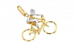 Zlatý prívesok Cyklista IZ3032