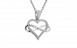 Zlatý prívesok Infinity Love s gravírom biely IZ11315A