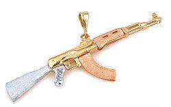 Zlatý prívesok Kalashnikov IZ3023