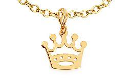 Zlatý prívesok koruna s karabínkou IZ11542P
