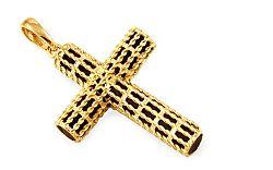 Zlatý prívesok kríž s kaučukom IZ9662
