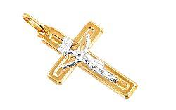 Zlatý prívesok kríž s umučením IZ4606