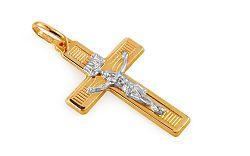 Zlatý prívesok kríž s umučením IZ4607